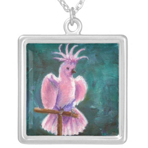 Pretty In Pink Cockatoo Necklace