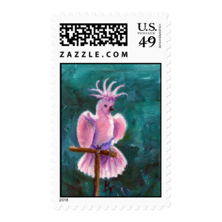 Pretty In Pink Cockatoo Postage Stamps