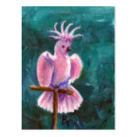 Pretty In Pink Cockatoo Postcard
