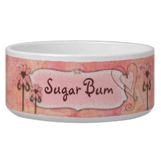 Pretty in Pink Custom Name Pet Water Bowls