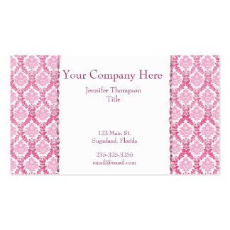 Pretty in Pink Damask Business Card