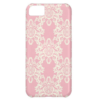 Pretty in Pink Damask Pattern I phone Case iPhone 5C Cases