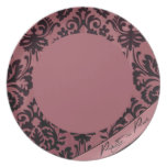Pretty in Pink Dinner Plate