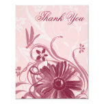 Pretty In Pink Dragonfly Thank You Cards