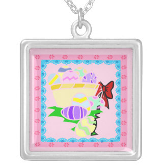Pretty In Pink Easter Necklace