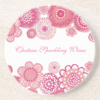 Pretty in Pink Elegant Corporate Promotional Items Coaster
