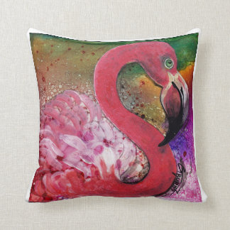 PRETTY IN PINK flamingo pillow design by GG Burns
