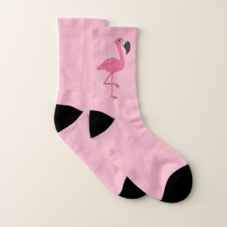 Pretty in Pink Flamingo Socks