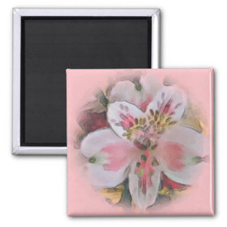 Pretty in Pink Floral Bouquet Magnet