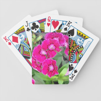 Pretty In Pink Flowers Bicycle Playing Cards