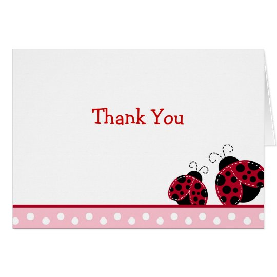 Pretty in Pink Folded Thank You Note Cards