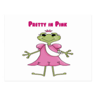 Pretty in Pink Frog Postcard