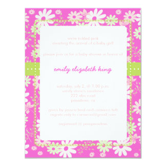 Pretty in Pink Garden baby shower/diy color Card