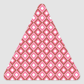 Pretty in pink gifts girls triangle sticker