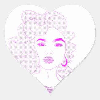 Pretty in Pink Girl Heart Sticker