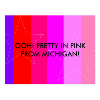 PRETTY IN PINK - GIRL'S RULE POSTCARD