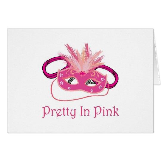 Pretty In Pink Glitzy Girly Card