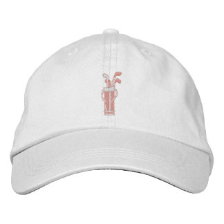 Pretty in Pink Golf Embroidered Baseball Hat