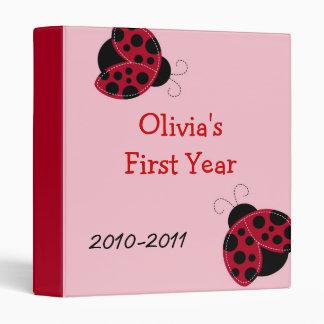 Pretty in Pink Ladybug Baby Photo Album Scrapbook 3 Ring Binders