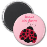 Pretty in Pink Ladybug Party Favor Magnets