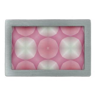 Pretty in Pink Modern Geometric Fractal Belt Buckles