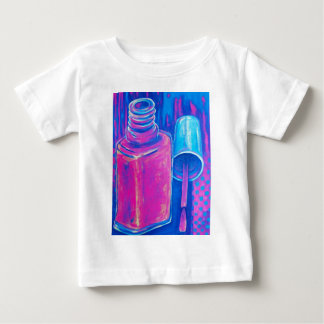 Pretty in Pink Nail Polish Baby T-Shirt