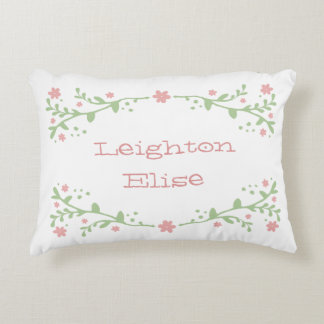 Pretty in Pink Name Pillow