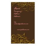 Pretty in Pink on chocolate w/ swirls profile card Business Card Templates
