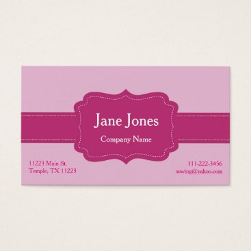 Professional Business Pretty in Pink on Pink Business Card