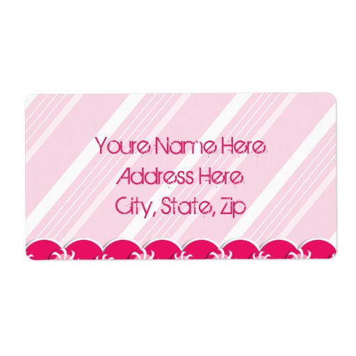 Pretty in Pink Peppermints Shipping Lables Shipping Label