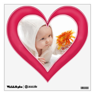 Pretty In Pink Photo Border - Customize Wall Decal