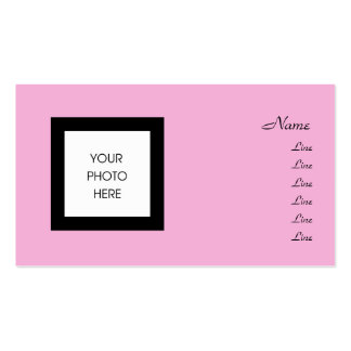 Pretty in Pink Photo Frame Business Card