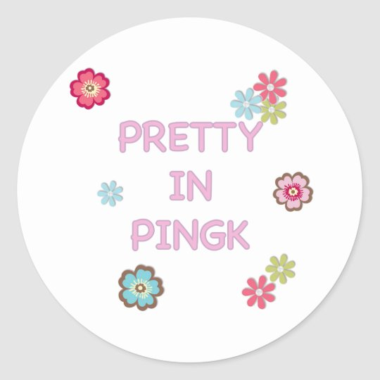 Pretty in Pink Ping Pong Classic Round Sticker
