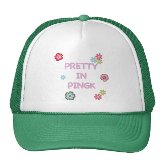Pretty in Pink Ping Pong Hats