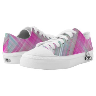 Pretty In Pink Plaid Zipz Low Top Shoes
