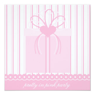Pretty in Pink Present Birthday Party Invitation