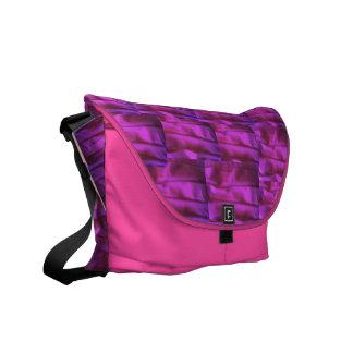 Pretty in Pink Ruffles Rickshaw Messenger Bag