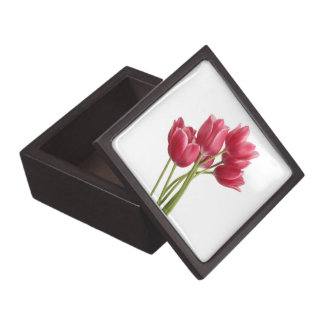 Pretty in Pink Tulips Jewelry Box