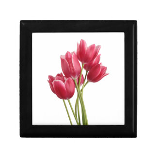 Pretty in Pink Tulips Keepsake Box
