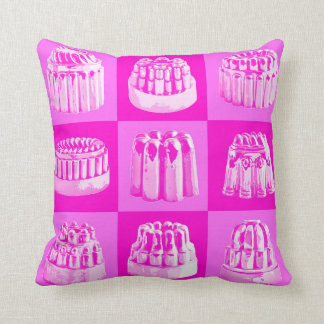 Pretty in Pink Vintage Jelly Mould Cushion