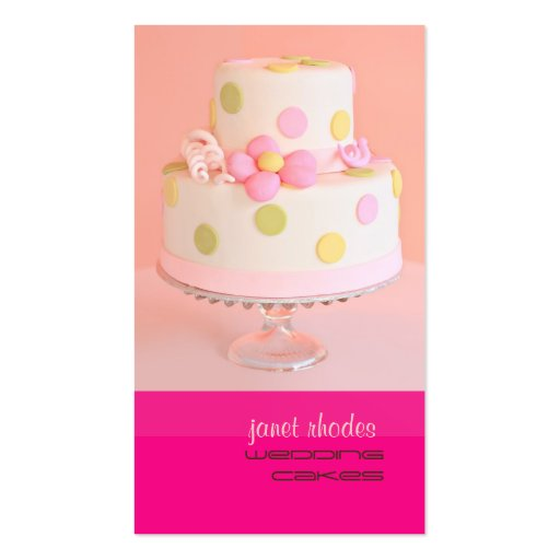 Pretty in Pink wedding cake Double-Sided Standard Business Cards (Pack Of 100)