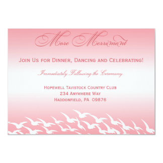 Pretty in Pink Wedding Reception Cards Personalized Announcement