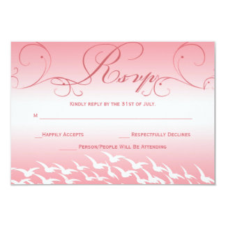 Pretty in Pink Wedding RSVP Card Personalized Invite