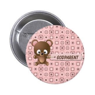 Pretty in Pink Whos Who  Godparent Button