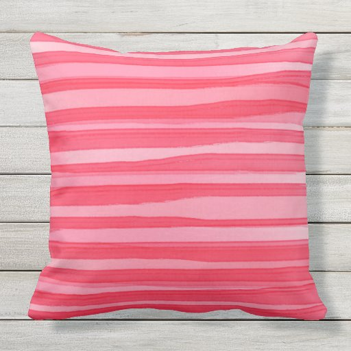 Wash Or Throw Away Pillows : Pretty in Pinks water color wash Throw Cushion Outdoor Pillow Zazzle