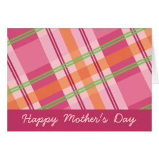 Pretty in Plaid Mother's Day Card