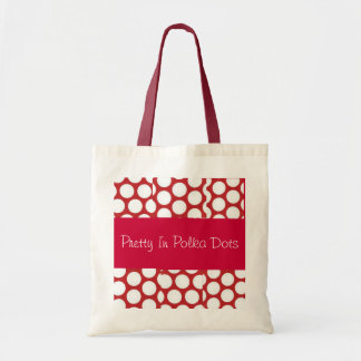 Pretty In Polka Dots Collection Budget Tote Bag