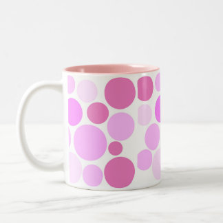 Pretty In Polka Dots Collection Two-Tone Coffee Mug