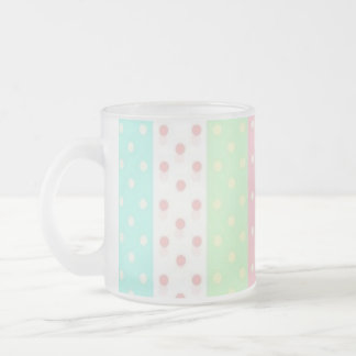 PRETTY IN POLKADOTS COLLECTION FROSTED GLASS COFFEE MUG