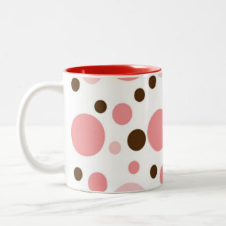 PRETTY IN  POLKADOTS COLLECTION Two-Tone COFFEE MUG